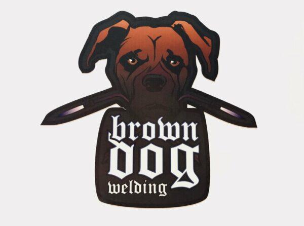Original Bdw Logo Vinyl Sticker Brown Dog Welding Josh