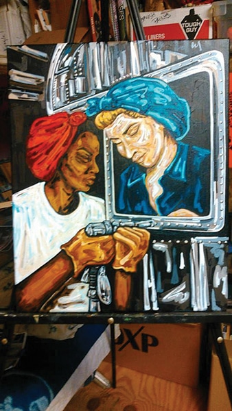 "The WELDER: Inspired to ""normalize"" women in the workplace: Meet welder and artist Melissa Gillespie Davis"