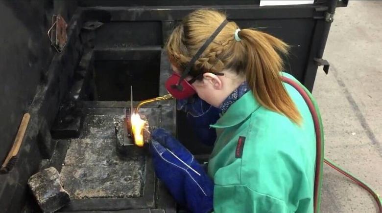 Still Building America: Aspiring welder Haley DeMitchell